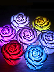 cheap -1PCS Rose Flower Color Changing Night Light LED Home Decoration Wedding party supllies