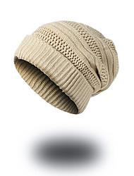 preiswerte -Unisex Hut Muster Kopfbedeckung Freizeit Schick & Modern Lässig/Alltäglich warm halten Strickware Beanie Schlapphut Skimütze - Reine Farbe