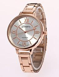 abordables -Mujer Reloj de Pulsera Reloj de Moda Chino Cuarzo Gran venta Aleación Banda Casual Plata Dorado Rose