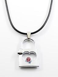 preiswerte -Herrn Damen Edelstahl Anhängerketten  -  Liebe Modisch Rot Hellblau Modische Halsketten Für Alltag Valentinstag