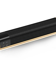 KR-1000 Mini Style Bluetooth Bluetooth 4.0 3.5mm AUX Subwoofer Black Gold