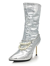 Women's Shoes Sparkling Glitter Microfibre Fall Winter Novelty Fashion Boots Boots Stiletto Heel Pointed Toe Mid-Calf Boots Sequin
