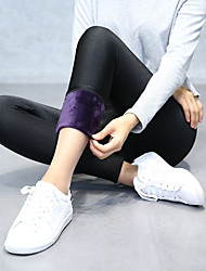 Women's Thick Solid Color Fleece Lined Sporty Legging,Solid Soft Comfortable Breathable