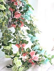 economico -1 pezzo 1 Ramo Tessuto sintetico Rose Fiori da tavolo Fiori Artificiali