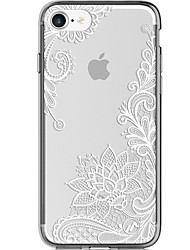 Til iPhone 7 iPhone 7 Plus Etuier Ultratyndt Transparent Mønster Bagcover Etui Blonde Tryk Blødt TPU for Apple iPhone 7 Plus iPhone 7