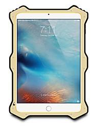 Недорогие -Кейс для Назначение Apple iPad Mini 4 iPad Mini 3/2/1 Вода / Грязь / Надежная защита от повреждений Чехол Сплошной цвет Твердый Металл для
