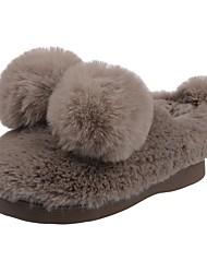 Da ragazzo Scarpe Velluto Inverno Comoda Primi passi Fodera di pelliccia Fodera di lanugine Pantofole e infradito Pompon Per Casual Nero