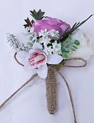 economico -Bouquet sposa Fiore all'occhiello Matrimonio Poliestere 3.94 pollice