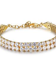 Per donna Bracciali tennis Stile semplice Placcato in oro Di forma geometrica Gioielli Per Matrimonio