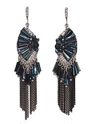 Women's Drop Earrings Crystal Rhinestone Tassel Fashion Rock Bling Bling Classic Elegant Crystal Rhinestone Alloy Rectangle Jewelry For