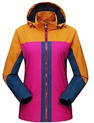 Недорогие -Жен. Куртка для туризма и прогулок На открытом воздухе Зима С защитой от ветра Дожденепроницаемый Устойчивы к ультрафиолетовому излучению