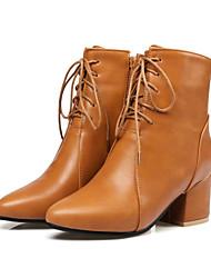 Da donna Scarpe PU (Poliuretano) Autunno Inverno Comoda Innovativo Stivali Stivaletti alla caviglia Stivaletti Quadrato Appuntite