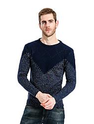 cheap -Men's Pullover - Color Block, Cut Out Round Neck