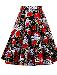 cheap -Women's Going out Midi Skirts A Line Floral Summer