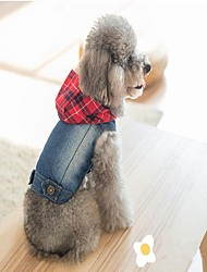 cheap -Dog Denim Jacket/Jeans Jacket Vest Christmas Dog Clothes Cowboy Casual/Daily Halloween Jeans Blue Costume For Pets