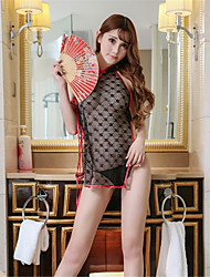 Women's Robes Ultra Sexy Nightwear,Sexy Embroidery-Thin Ice Silk