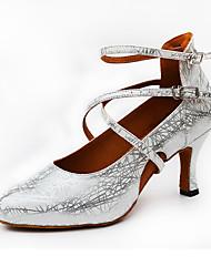 Da donna Danza moderna PU (Poliuretano) Tacchi Per interni Con fermaglio di chiusura A fantasia Oro Nero Argento Personalizzabile