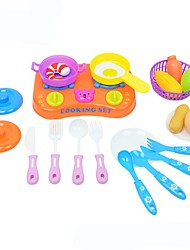 Недорогие -Игрушка кухонные наборы Игрушечная еда Игрушки Продукты питания Пластик ABS Детские Мальчики Девочки 21 Куски