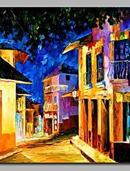 abordables -Peinture à l'huile Hang-peint Peint à la main - Paysage Artistique Décoration artistique / Rétro Classique Toile