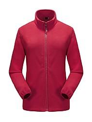 cheap -Women's Hiking Fleece Jacket Outdoor Winter Anti-Slip Anatomic Design Breathability UV resistant Winter Fleece Jacket Full Length Visible