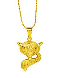 baratos -Mulheres Raposa Chapeado Dourado Colares com Pendentes  -  Animal Animal Dourado Colar Para Presente Trabalho