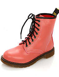 cheap -Women's Boots Comfort Novelty Fashion Boots Combat Boots Fall Winter Synthetic Microfiber PU Casual Outdoor Office & Career Lace-up Flat