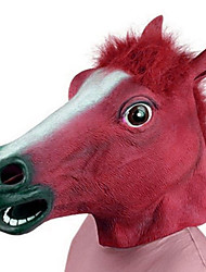 Halloween Novelty Creepy Rubber Animal Mane Horse Head Mask Head Halloween Masquerade Cosplay Mask Party Costume Prop
