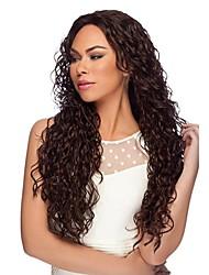 Недорогие -Remy Лента спереди 360 Лобовой Парик Бразильские волосы Свободные волны С пушком 150% 180% плотность 100% ручная работа Природные волосы