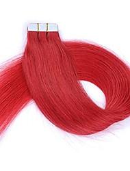 bande dans les extensions de cheveux 100% cheveux humains remy 16 18 20 22 24 ruban double face ruban adhésif sans couture extensions de