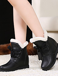 Women's Shoes Customized Materials Leatherette Fall Winter Fur Lining Fluff Lining Comfort Rain Boots Snow Boots Fashion Boots Light Soles