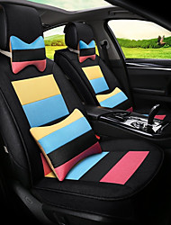 cheap -Flax Mosaic Rainbow Stripes Car Seat Cushion Seat Cover Seat Four Seasons General Surrounded By A Five Seat-Black