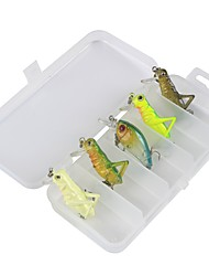 5 pcs Fishing Accessories Set Lure Packs g/Ounce mm/1-9/16 1-5/8 inchPlastic Carbon Steel Sea Fishing Bait Casting Ice Fishing