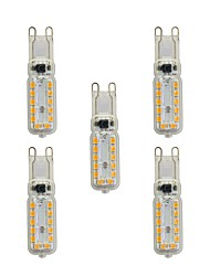 cheap -5 pcs 4W G9 LED Bi-pin Lights T 24 leds SMD 2835 Warm White White 320lm 3000-3500/6000-6500K AC 220-240V