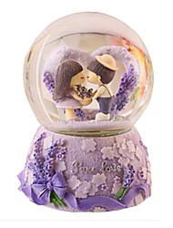 Bolas Caixa de música Brinquedos Circular Cristal Peças Unisexo Aniversário Dia dos namorados Dom