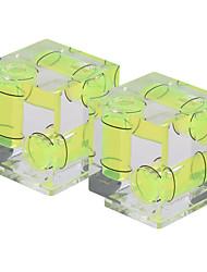 andoer 2-pack 3 axes à 3 dimensions caméra bulle à bulle équilibrage de niveau support à chaussure chaude pour canon nikon panosonic