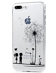 preiswerte -Für iPhone X iPhone 8 Hüllen Cover Ultra dünn Muster Rückseitenabdeckung Hülle Löwenzahn Weich TPU für Apple iPhone X iPhone 8 Plus