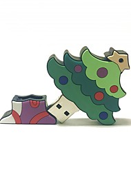 2gb natal usb flash drive cartoon criativo árvore de natal presente de natal usb 2.0