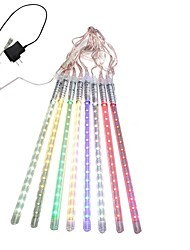 cheap -30CM 8 Tube LED Meteor Rain Light Decoration Tube Lights for Christmas Party US Plug EU Plug AC110 220V Festival Decoration 1pcs