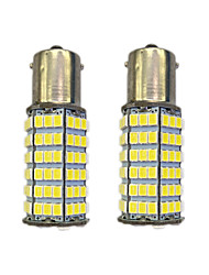 4W 1156 BAY15S PY21W 120SMD2835 Turn Signal Lamp for Car White DC12V 2PCS