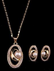 cheap -Women's Classic Fashion Wedding Party Cubic Zirconia Rhinestone Necklace Earrings