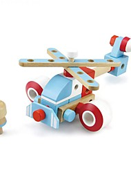 cheap -Robot Building Blocks Educational Toy Toys Plane / Aircraft Machine Robot DIY Wooden Kids' Boys Girls Pieces