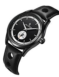 abordables -Hombre Cuarzo Reloj de Pulsera Chino Gran venta Cuero Auténtico Banda Vintage Casual Elegant Moda Cool Negro Marrón