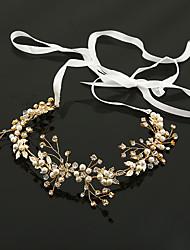 Imitation Pearl Rhinestone Alloy Headbands Flowers Headpiece