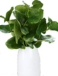 Green Butterfly Artificial Leaves Plant Home Decorative Green Wall Accessorie 5 Branch