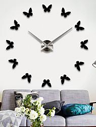 economico -Moderno/Contemporaneo Orientale Fashion Orologio da parete,Tonda Acciaio INOX + ABS Alta qualità Materiale misto Interni/Esterni Al