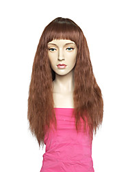 Women Synthetic Wig Capless Long Water Wave Brown Layered Haircut Party Wig Celebrity Wig Halloween Wig Natural Wig Costume Wigs