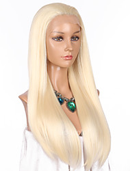 cheap -Synthetic Lace Front Wig Straight Blonde Synthetic Hair Natural Hairline Blonde Wig Women's Long Lace Front Light Blonde