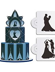 cheap -Cake Stencil Baking Mould Spray/Cake/Printing/Sugar Powder Sieve Wedding 2PCS