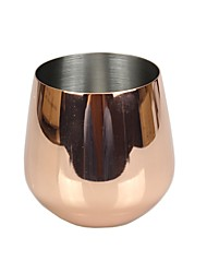 Drinkware, 500ml Rose Gold Stainless Steel Wine Cocktail Wine Glass