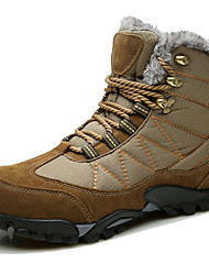 cheap -Men's Snow Boots Suede / Canvas Fall / Winter Boots Booties / Ankle Boots Black / Blue / Khaki